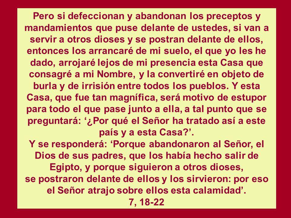 NUEVA APARICION DEL SEÑOR A SALOMON 1 Rey. 9. 1-9 Entonces el Señor se apareció a Salomón durante la noche y le dijo: