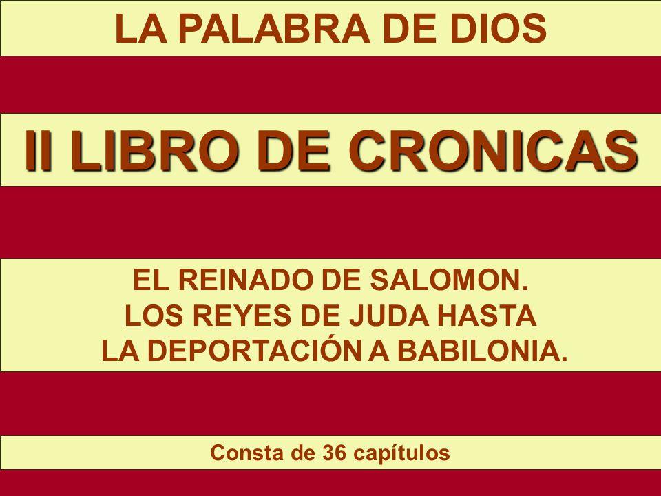 LA PALABRA DE DIOS MENSAJE #17 II LIBRO DE CRONICAS
