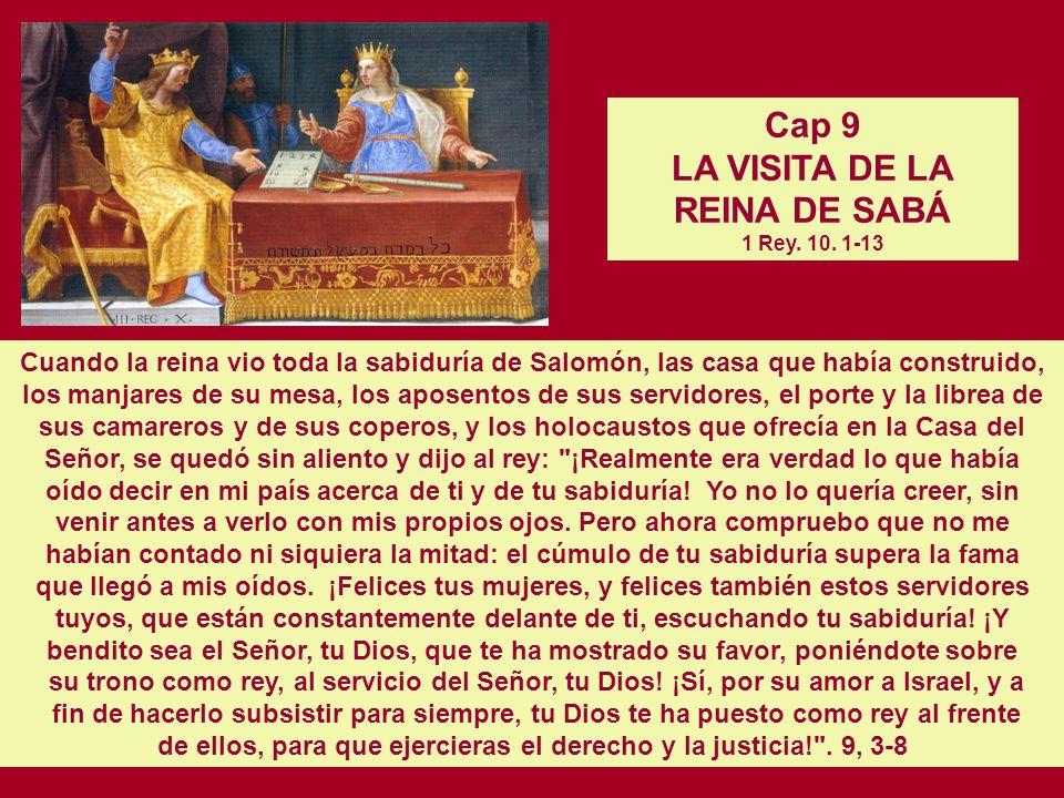 Cap 8 LAS CONSTRUCCIONES DE SALOMON. 1 Rey. 9. 10, 17b-19 EL RECLUTAMIENTO DE TRABAJADORES. 1 Rey. 9. 20-23 EL TRASLADO DE LA HIJA DEL FARAON. 1 Rey.