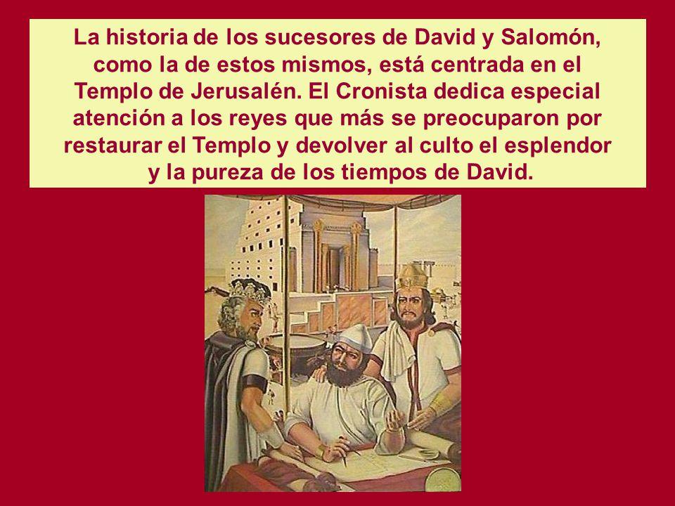 Según su concepción, las tribus cismáticas del Norte renunciaron a las promesas divinas, vinculadas exclusivamente a la casa de David, y perdieron el