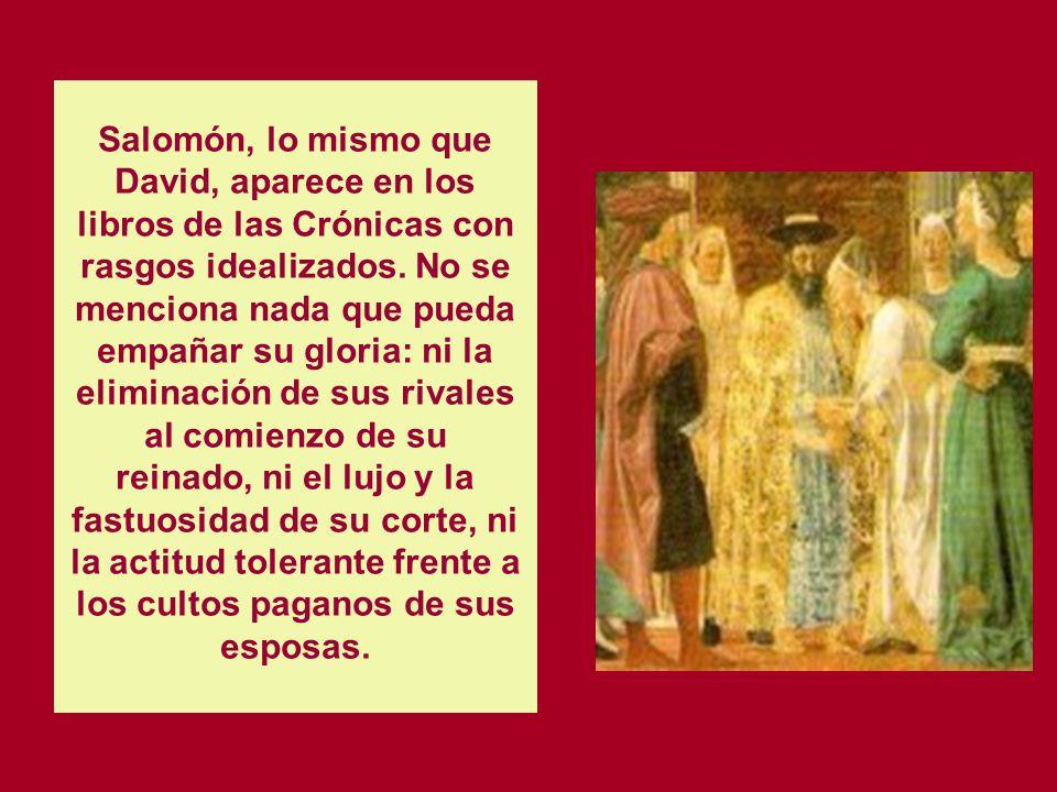 LA PALABRA DE DIOS II LIBRO DE CRONICAS EL REINADO DE SALOMON. LOS REYES DE JUDA HASTA LA DEPORTACIÓN A BABILONIA. Consta de 36 capítulos