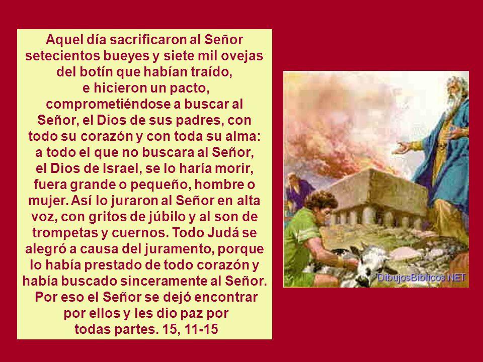 Cap. 15 LA PROFECIA DE AZARIAS Azarías, hijo de Oded, sobre el que había descendido el espíritu de Dios, salió al encuentro de Asá y le dijo: