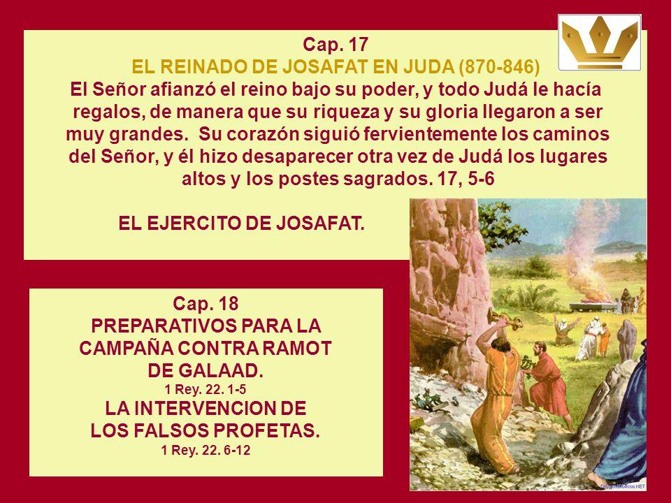 Cap. 16 LA GUERRA DE ASÁ CONTRA BASÁ, REY DE ISRAEL 1 Rey. 15. 16-22 En aquel tiempo, el vidente Jananí se presentó ante Asá, rey de Judá, y le dijo: