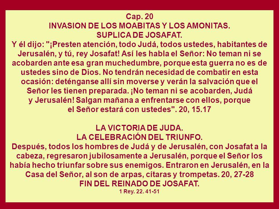 Cap. 19 EL REPROCHE DE JEHU A JOSAFAT. LA REFORMA JUDICIAL DE JOSAFAT. Estableció jueces en el país, en todas y cada una de las ciudades fortificadas