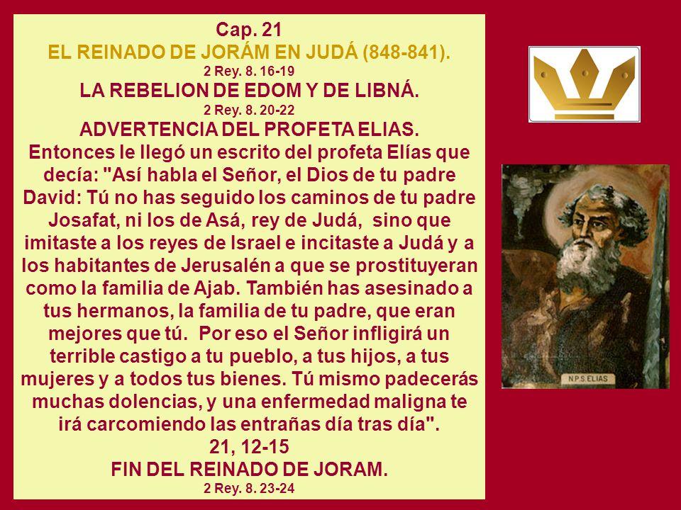 Cap. 20 INVASION DE LOS MOABITAS Y LOS AMONITAS. SUPLICA DE JOSAFAT. Y él dijo: