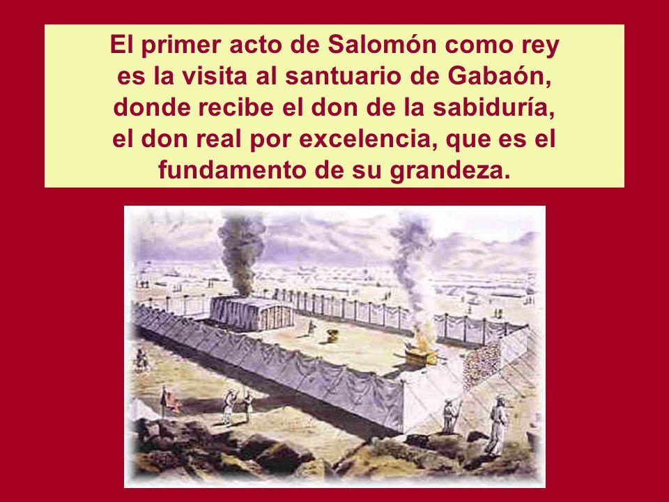 Salomón, lo mismo que David, aparece en los libros de las Crónicas con rasgos idealizados. No se menciona nada que pueda empañar su gloria: ni la elim