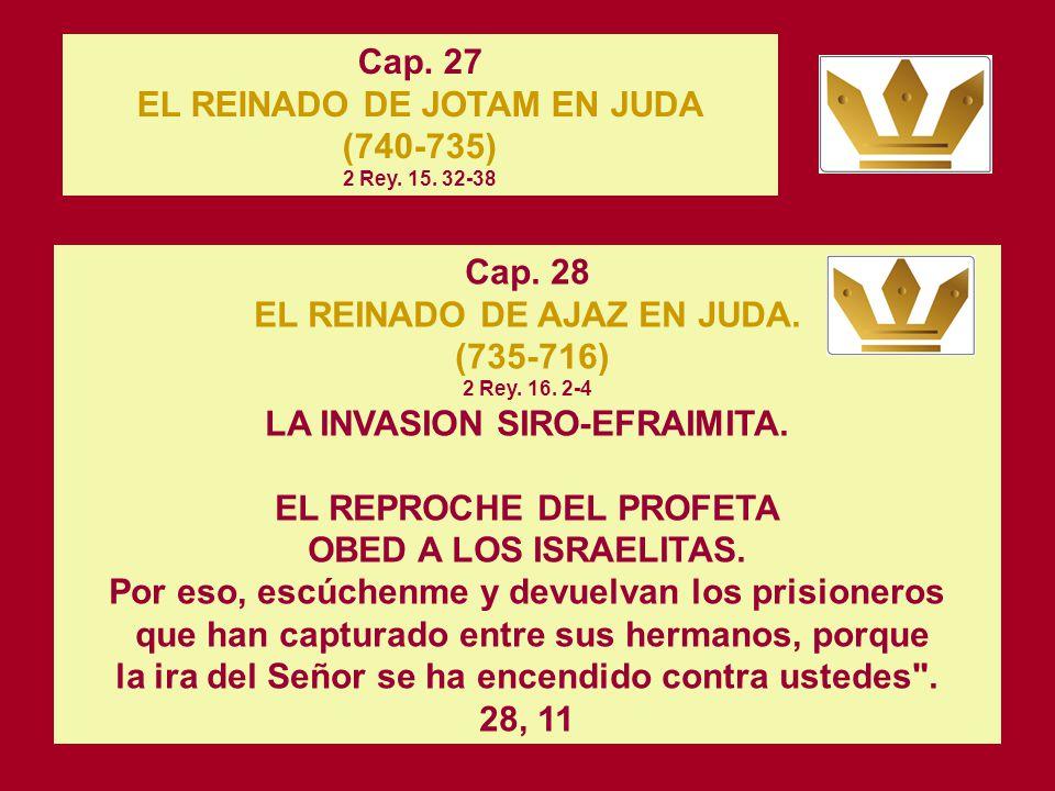 Cap. 26 EL REINADO DE OZIAS EN JUDA (781-740) 2 Rey. 14. 21. 22; 15. 1-3 Buscó a Dios durante la vida de Zacarías, que lo había instruido en el temor