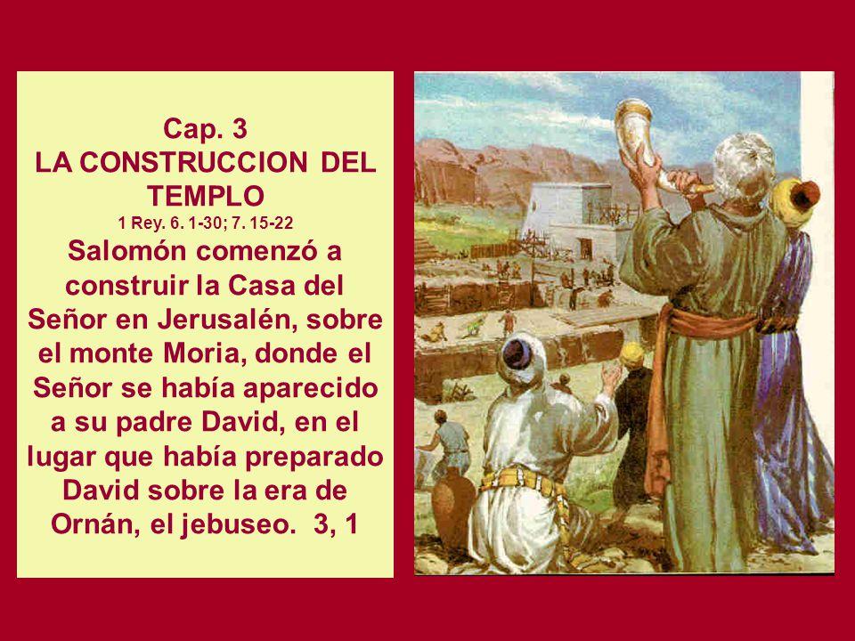 Cap. 2 LA ALIANZA CON EL REY DE TIRO PARA LA CONSTRUCCION DEL TEMPLO. 1 Rey. 5. 16-26 Jirám, rey de Tiro, respondió en una carta que envió al rey Salo