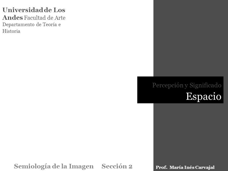 Universidad de Los Andes Facultad de Arte Departamento de Teoría e Historia Percepción y Significado Espacio Semiología de la Imagen Sección 2 Prof. M