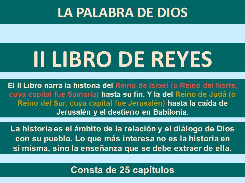 LA PALABRA DE DIOS MENSAJE # 15 II LIBRO DE REYES