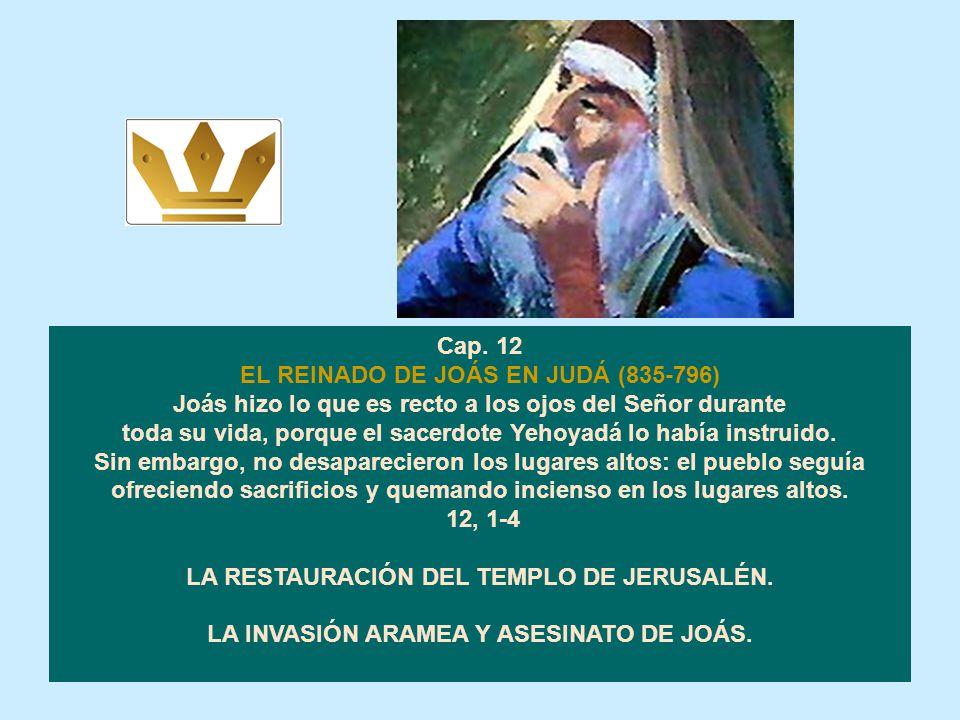 LA MUERTE DE ATALÍA Hicieron descender al rey de la Casa del Señor, y por el camino de la puerta de la Escolta, llegaron a la casa del rey. Joás se se