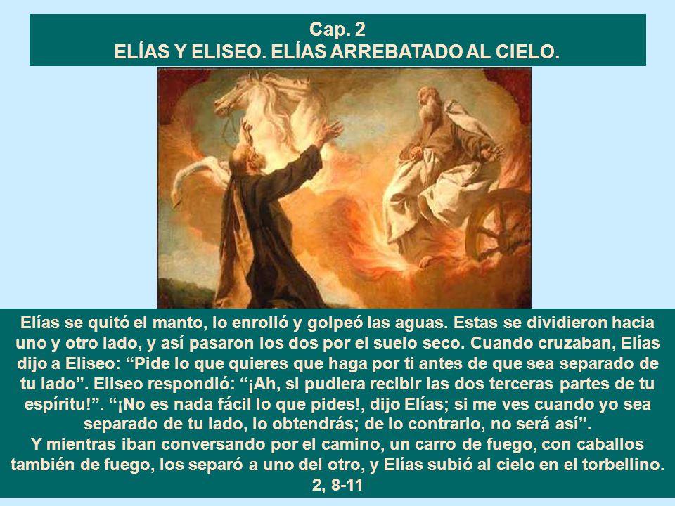 LA PREDICCIÓN DE ELISEO ACERCA DE BEN HADAD Y JAZAEL. Eliseo respondió: Ve a decirle: Sí, te restablecerás; pero el Señor me ha hecho ver que morirás.