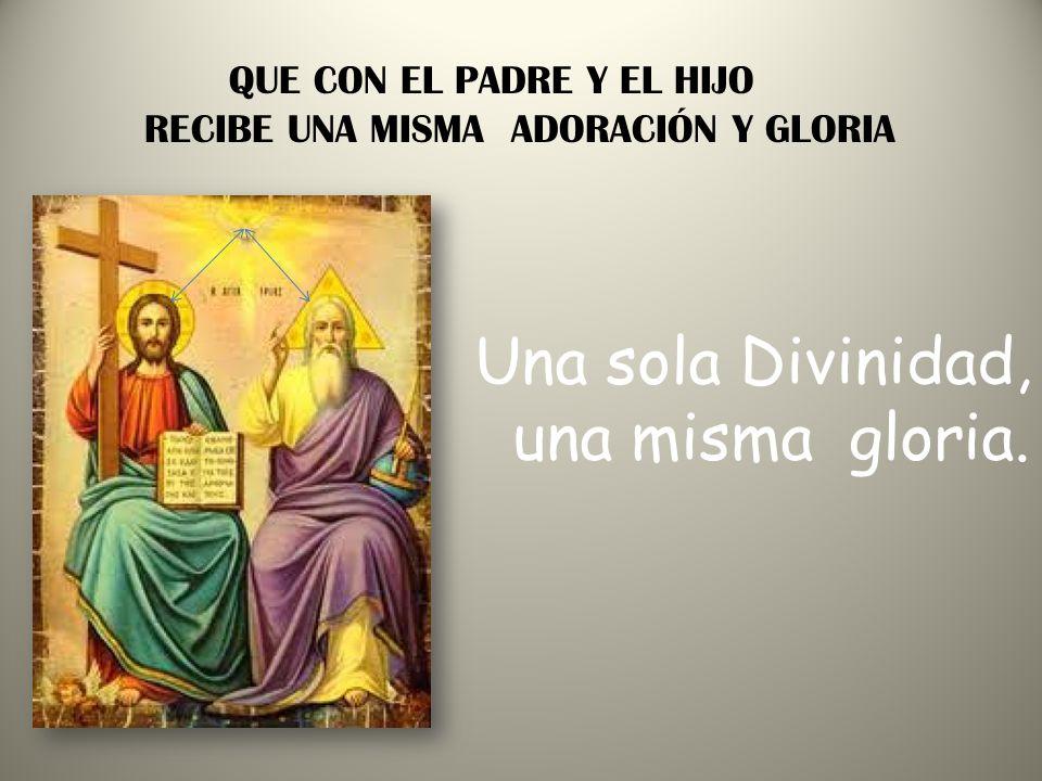 QUE PROCEDE DEL PADRE Y DEL HIJO El ESPÍRITU SANTO procede del PADRE Y DEL HIJO Y nos conduce a la verdad completa.