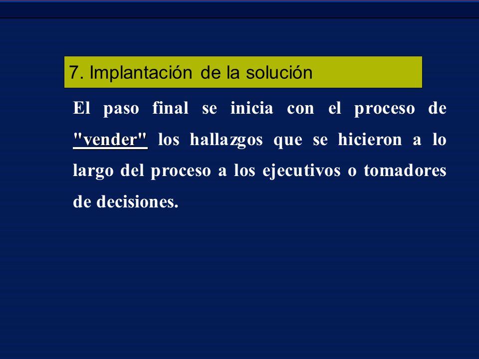 7. Implantación de la solución