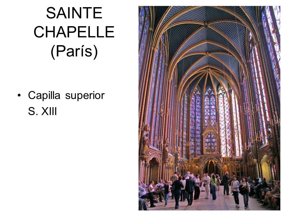 SAINTE CHAPELLE (París) Capilla superior S. XIII
