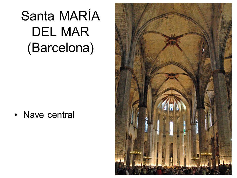 Santa MARÍA DEL MAR (Barcelona) Nave central