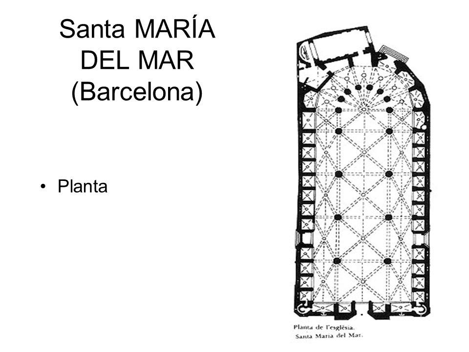 Santa MARÍA DEL MAR (Barcelona) Planta