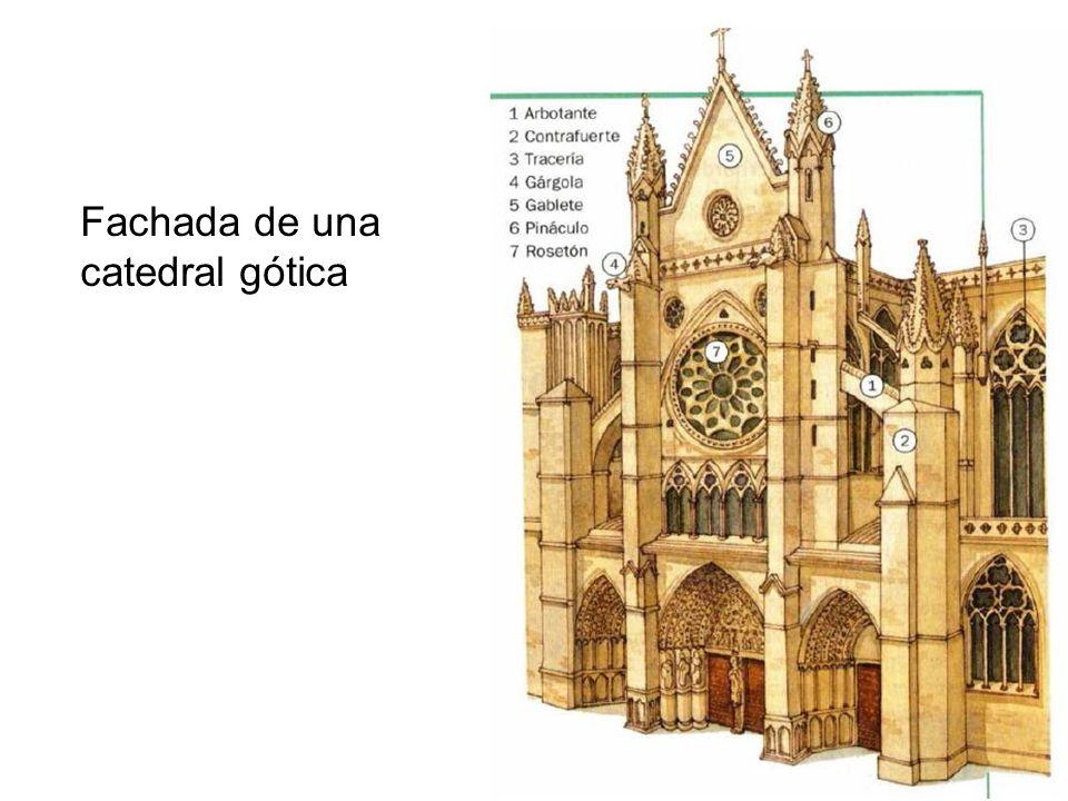 Fachada de una catedral gótica