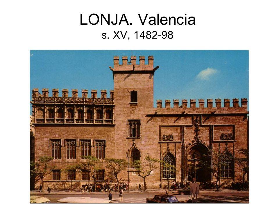 LONJA. Valencia s. XV, 1482-98