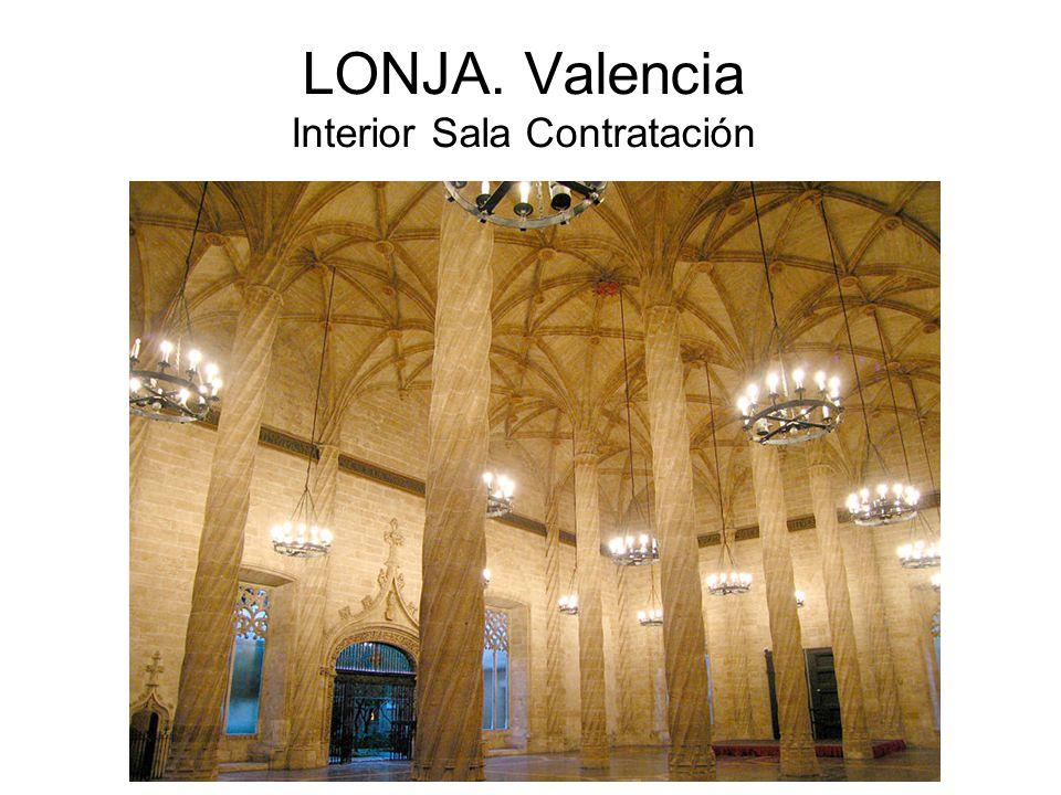 LONJA. Valencia Interior Sala Contratación