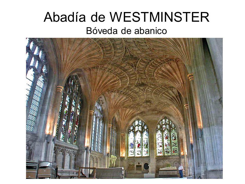 Abadía de WESTMINSTER Bóveda de abanico