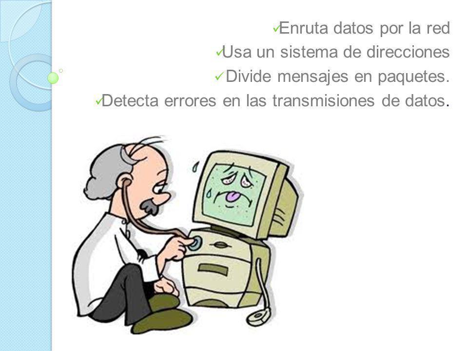 TCP/IP Significa Protocolo de control de transmisión/Protocolo de Internet Representa todas las reglas de comunicación para Internet. Brinda una direc