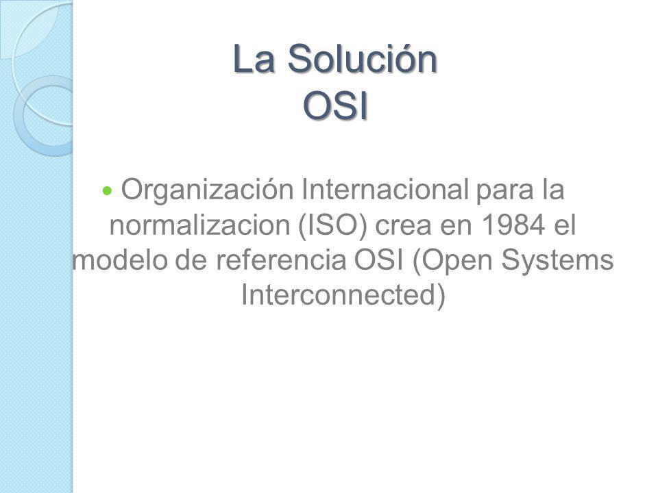 Modelo OSI Necesidad de Estandalizar: Compatibilidad e Interoperabilidad: Capacidad de los equipos de informatica de diferentes fabricantes para comun