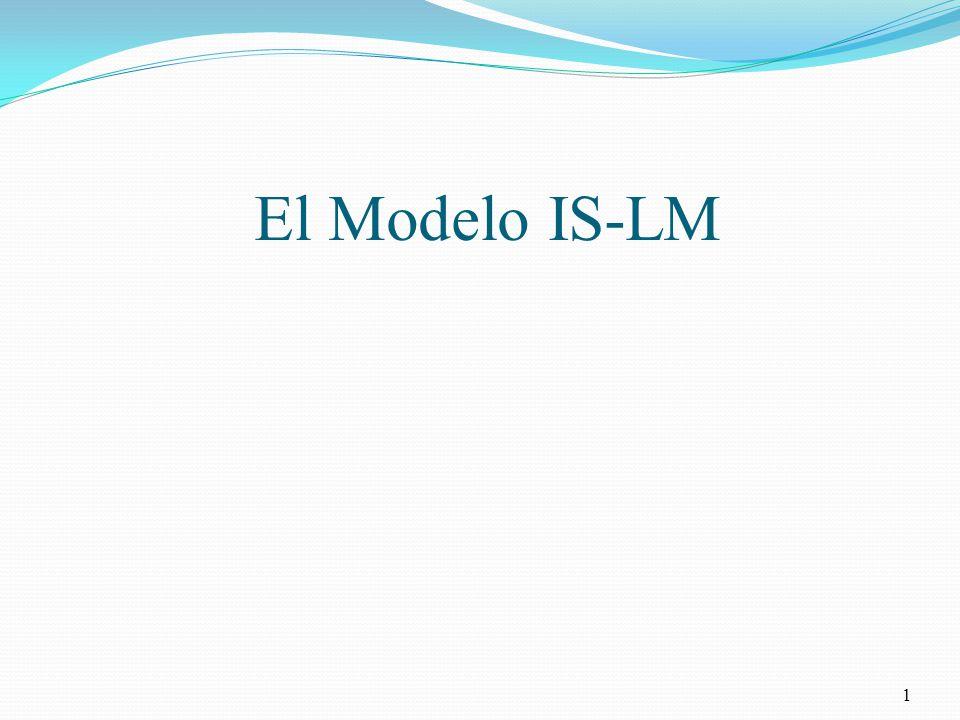 La curva LM 32 Oferta, Y, PBI Tasa de Interés, r LM Muestra todas las combinaciones de r e Y que satisfacen la relación de igualdad de la demanda de dinero y de la oferta de dinero para un determinado nivel de precios (la oferta real de dinero).