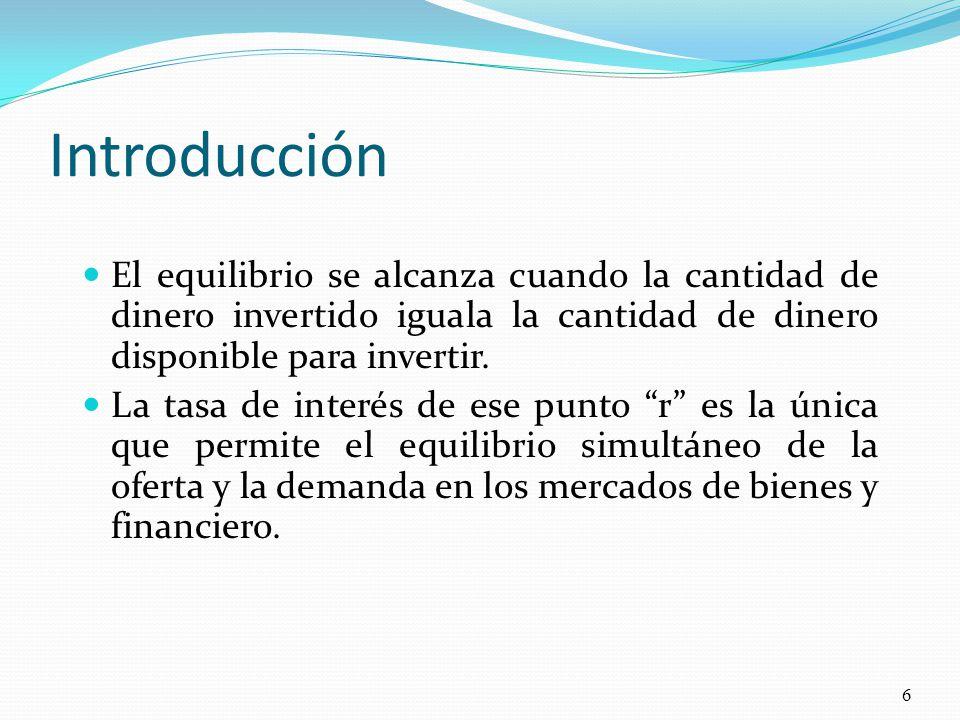El Modelo IS-LM 7 Oferta, Y, PBI Tasa de Interés, r IS Y r LM Esta tasa de interés es la unica que permite un equilibrio simultaneo en los mercados de bienes y financiero