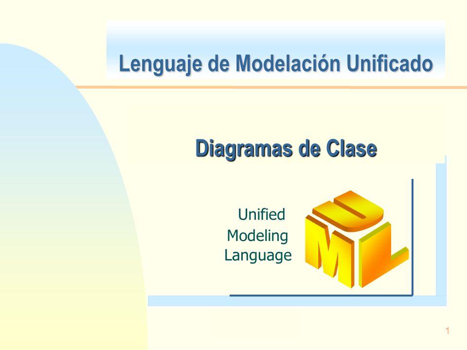 1 Lenguaje de Modelación Unificado Unified Modeling Language Diagramas de Clase