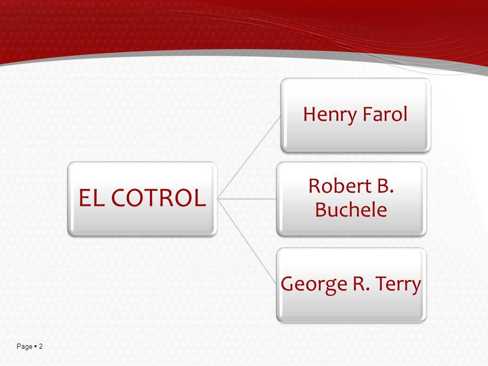 Page 2 EL COTROL Henry Farol Robert B. Buchele George R. Terry