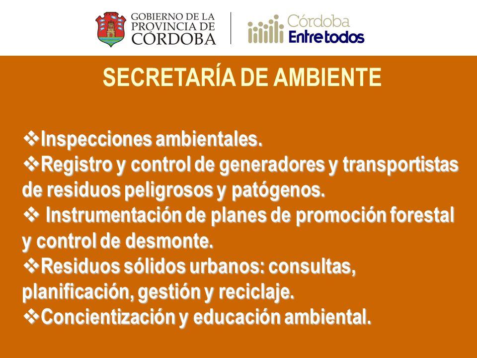 SECRETARÍA DE AMBIENTE Inspecciones ambientales. Inspecciones ambientales.