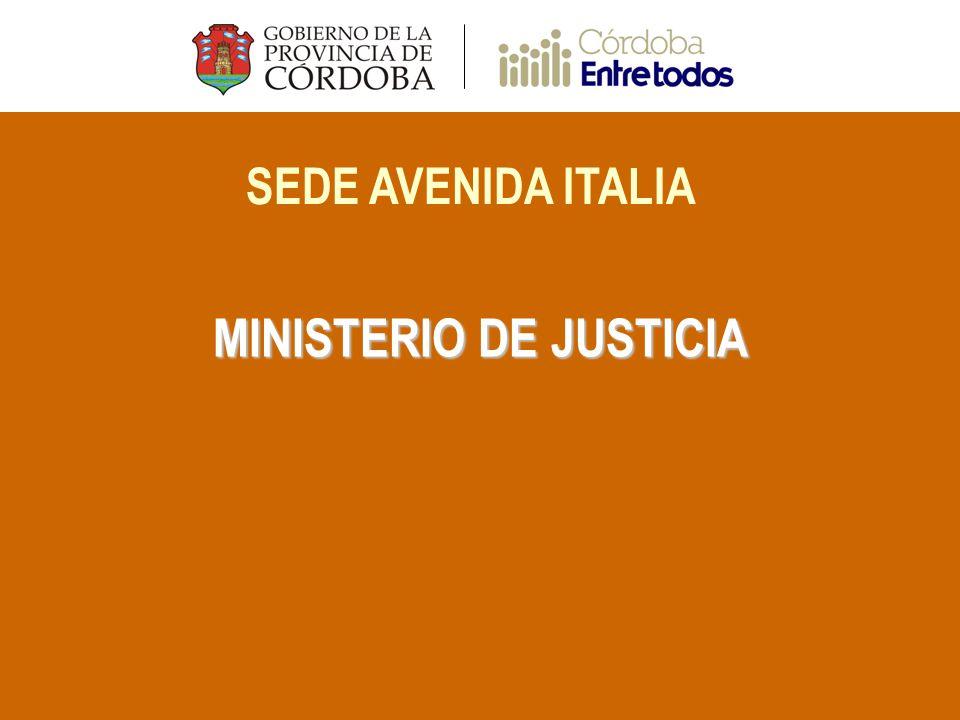 SEDE AVENIDA ITALIA MINISTERIO DE JUSTICIA
