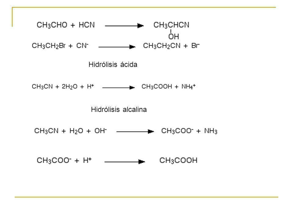 Hidrólisis ácida Hidrólisis alcalina