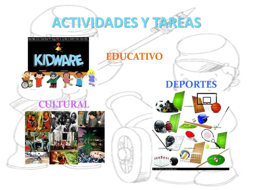 ACTIVIDADES Y TAREAS EDUCATIVO DEPORTES CULTURAL