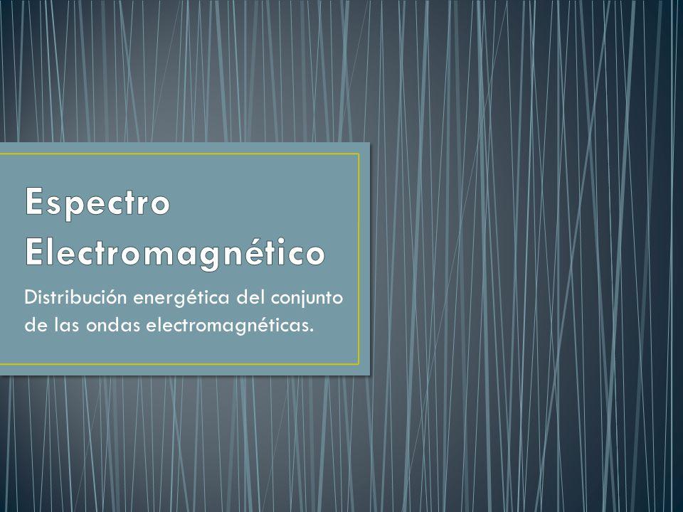 Distribución energética del conjunto de las ondas electromagnéticas.