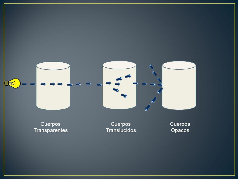 CuerposTransparentesCuerposTranslucidosCuerposOpacos
