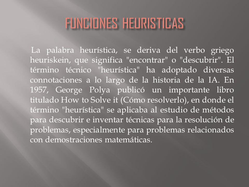 La palabra heurística, se deriva del verbo griego heuriskein, que significa encontrar o descubrir .