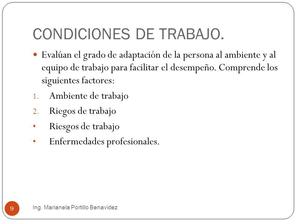 Ing. Marianela Portillo Benavidez 10