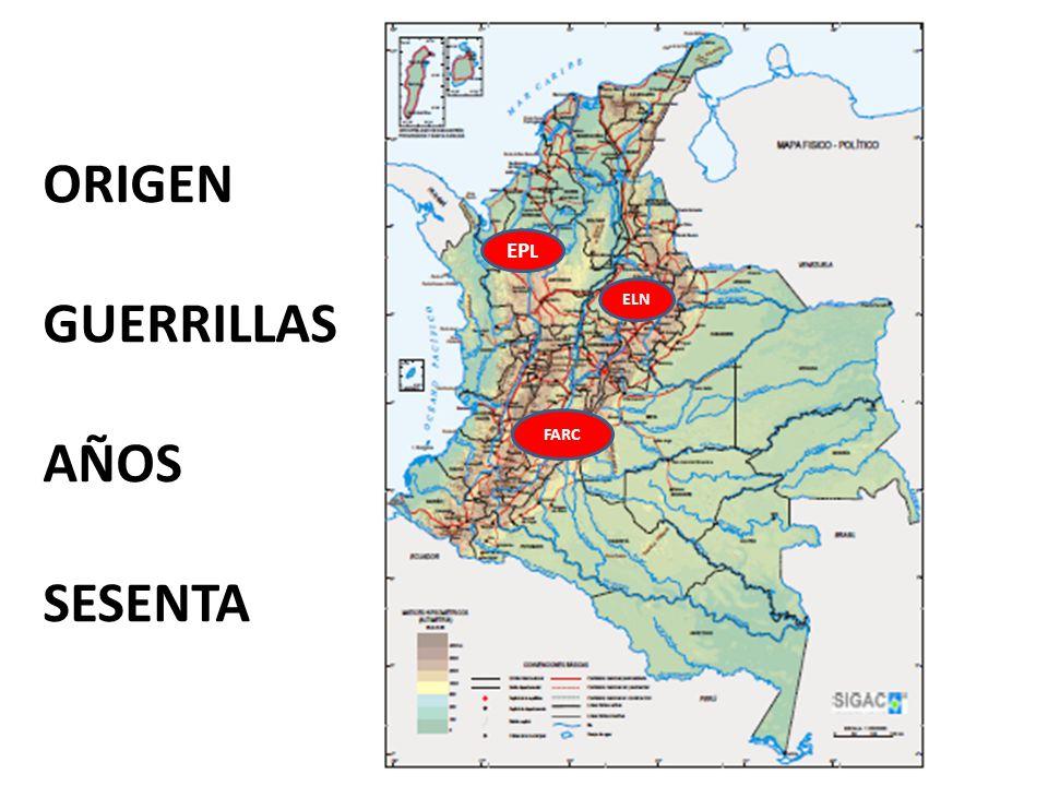 FARC ELN EP L ORIGEN GUERRILLAS AÑOS SESENTA