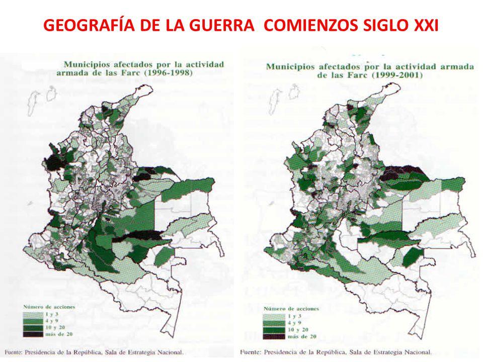 GEOGRAFÍA DE LA GUERRA COMIENZOS SIGLO XXI