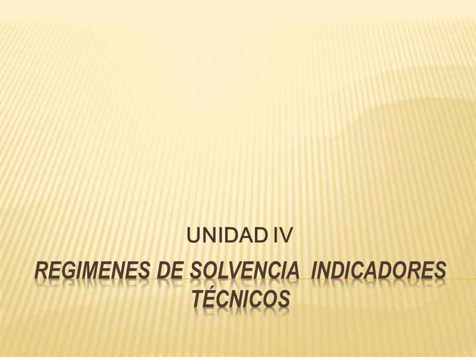SOLVENCIA DE LAS ENTIDADES ASEGURADORAS.