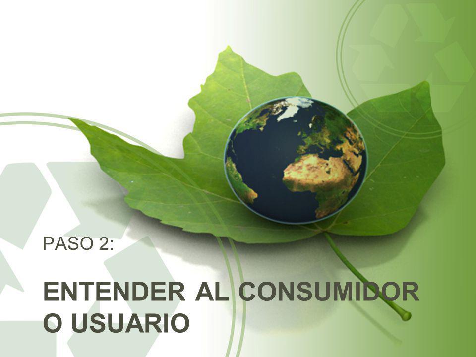 ENTENDER AL CONSUMIDOR O USUARIO PASO 2: