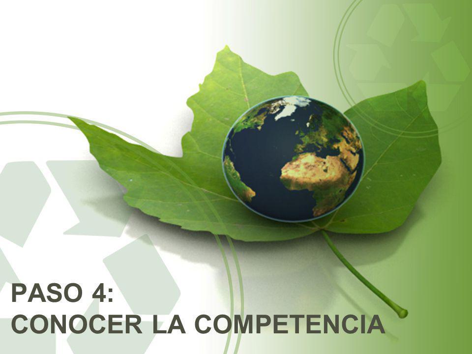 PASO 4: CONOCER LA COMPETENCIA