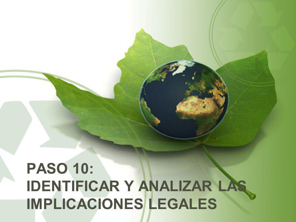 PASO 10: IDENTIFICAR Y ANALIZAR LAS IMPLICACIONES LEGALES