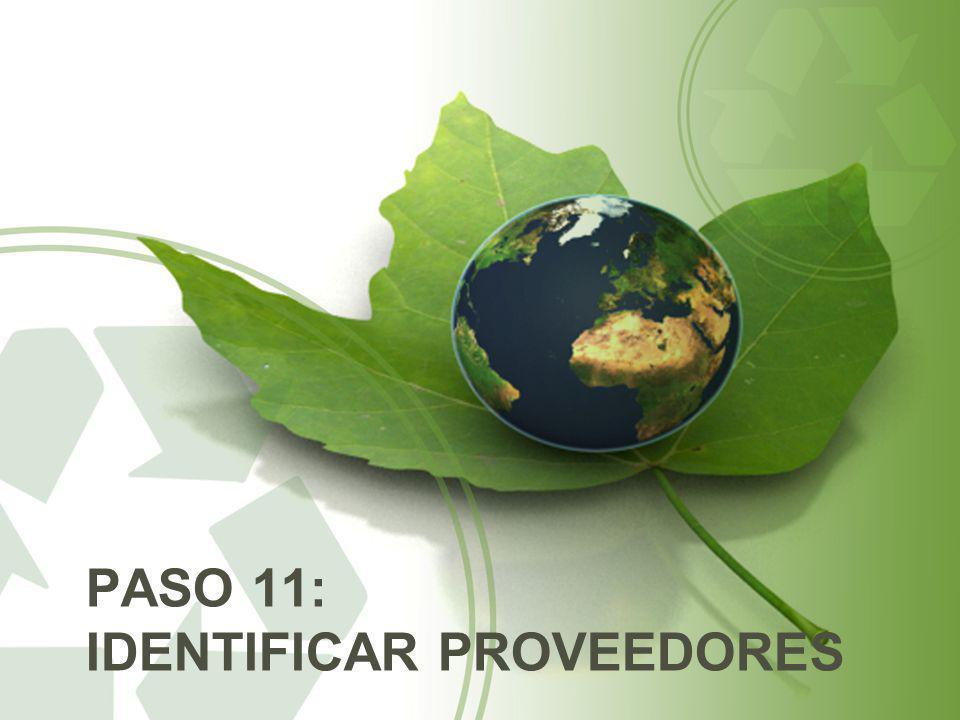 PASO 11: IDENTIFICAR PROVEEDORES