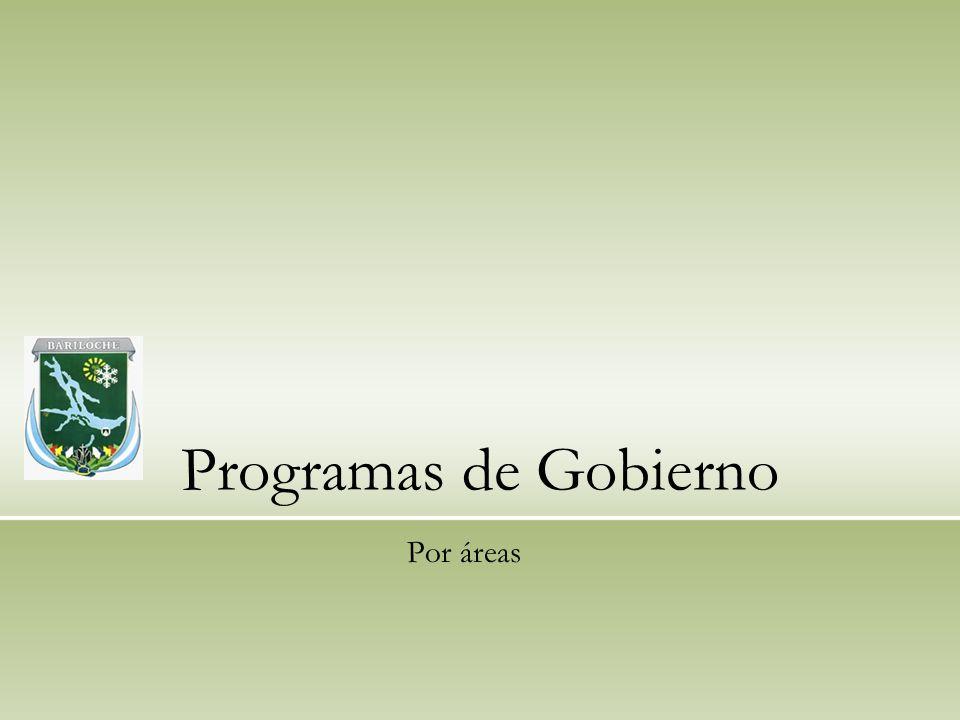 Programas de Gobierno Por áreas