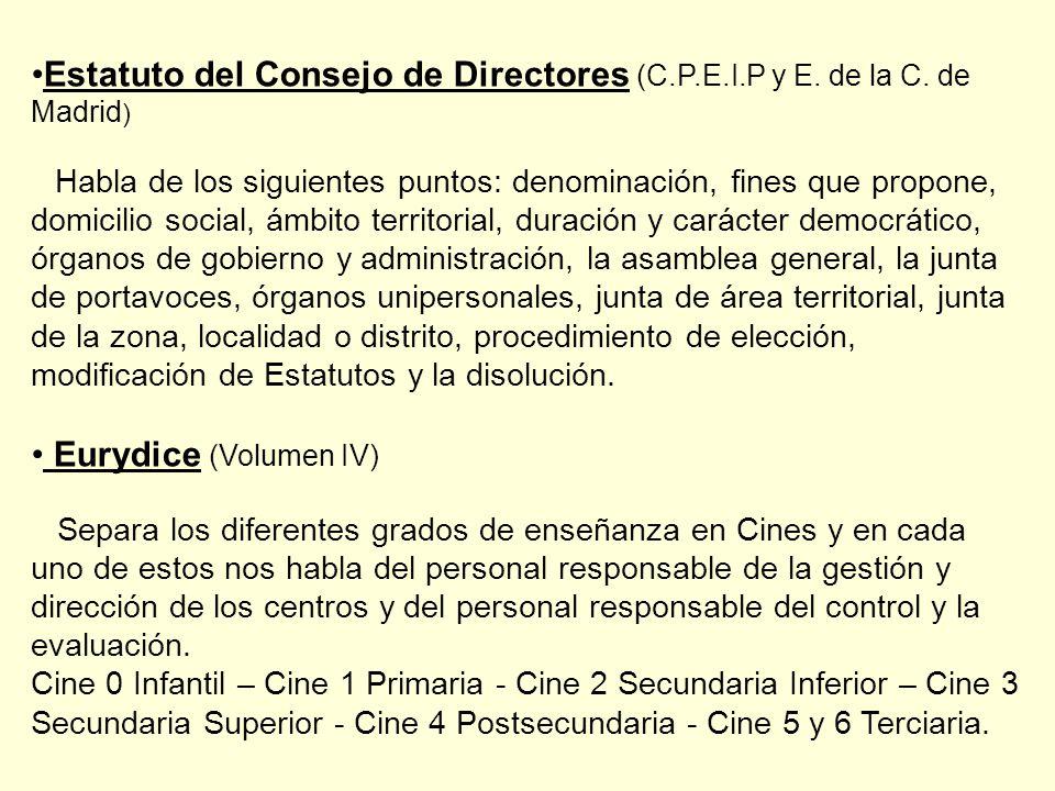 Estatuto del Consejo de Directores (C.P.E.I.P y E.