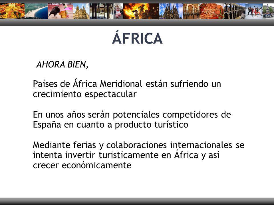 ÁFRICA AHORA BIEN, Países de África Meridional están sufriendo un crecimiento espectacular En unos años serán potenciales competidores de España en cu