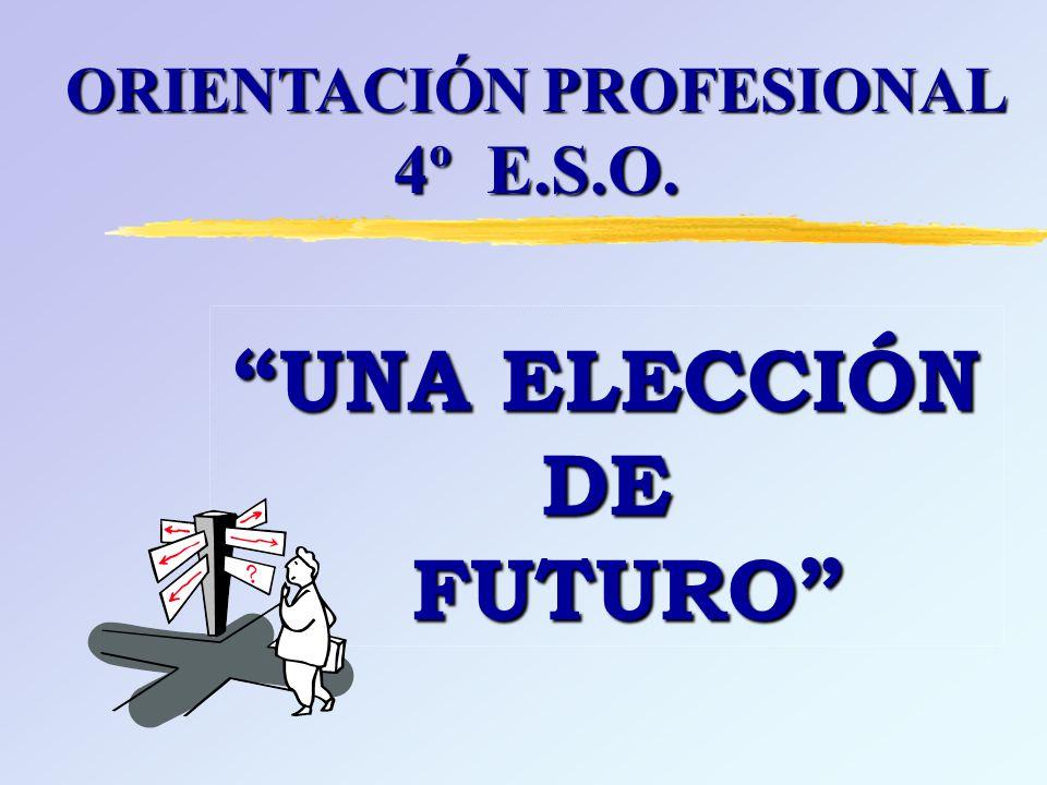 UNA ELECCIÓN DE FUTURO ORIENTACIÓN PROFESIONAL 4º E.S.O.